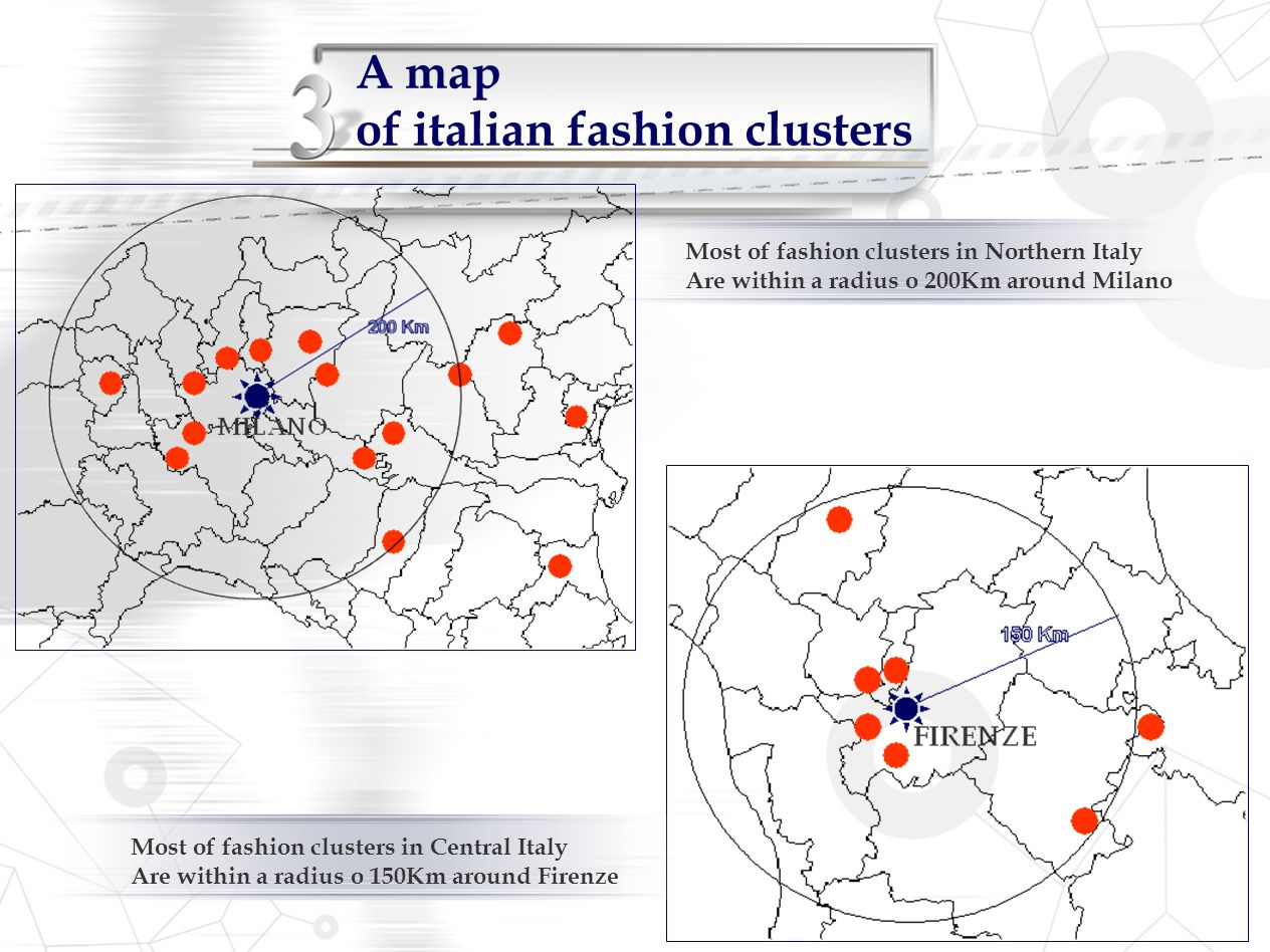 A map of italian fashion clusters