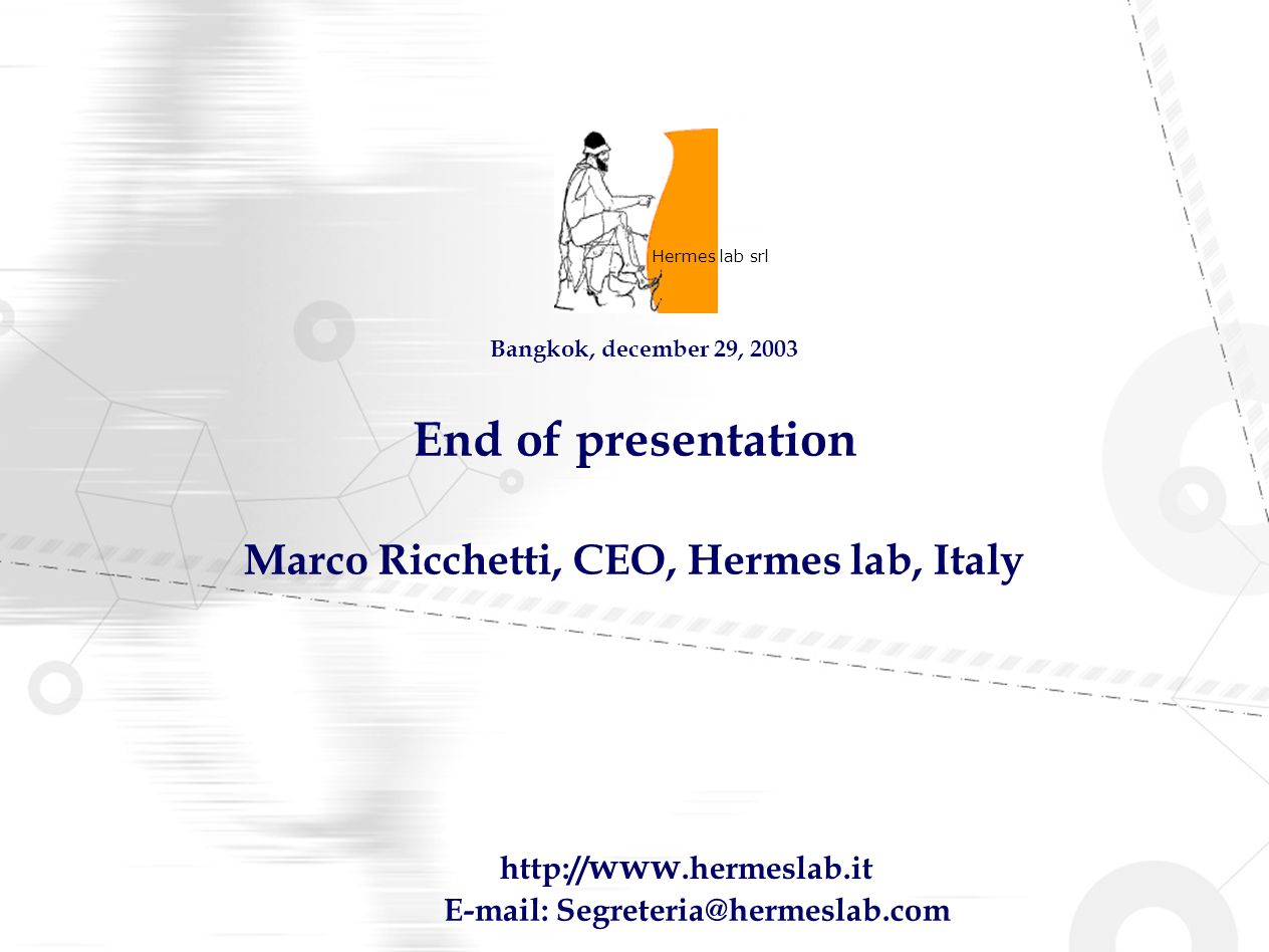 Marco Ricchetti, CEO, Hermes lab, Italy