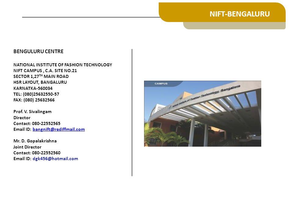 NIFT-BENGALURU BENGULURU CENTRE