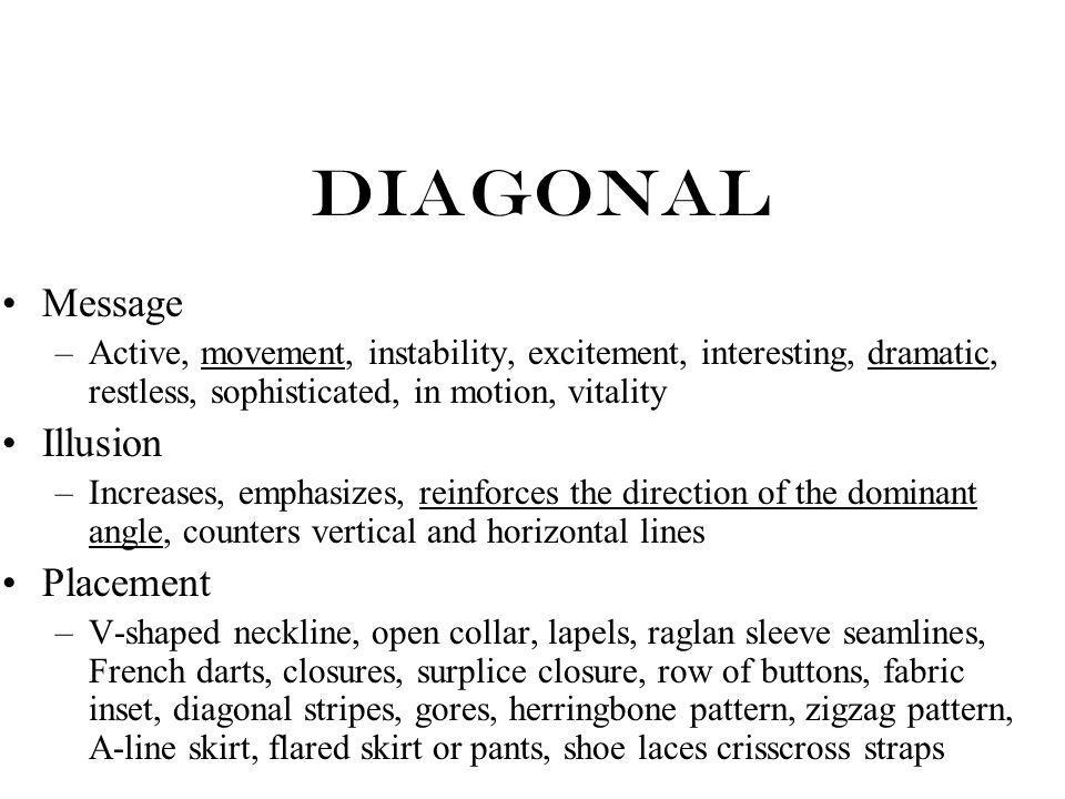 Diagonal Message Illusion Placement