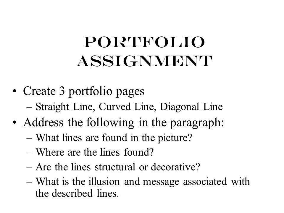 Portfolio Assignment Create 3 portfolio pages