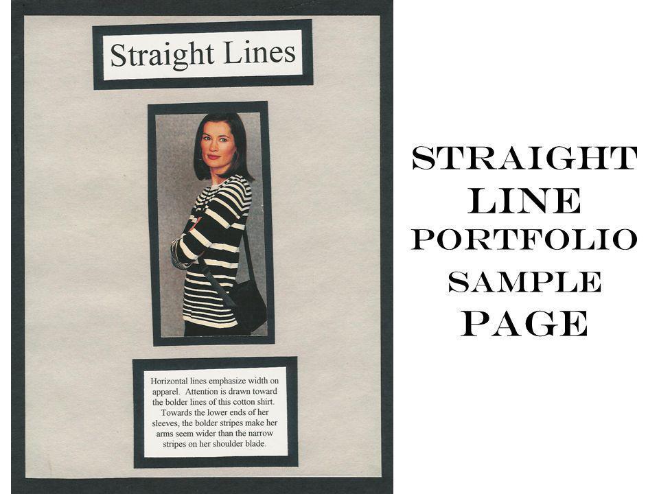 Straight line portfolio sample page