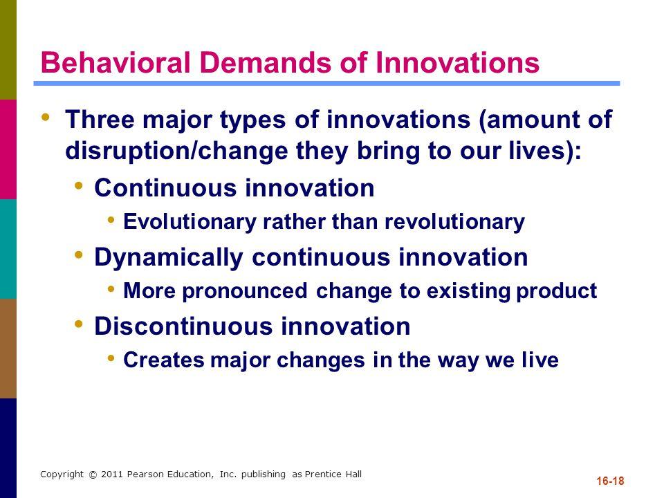 Behavioral Demands of Innovations
