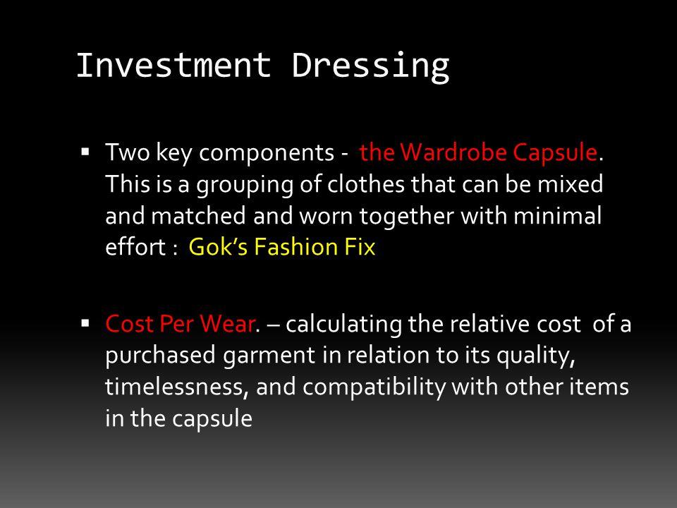 Investment Dressing