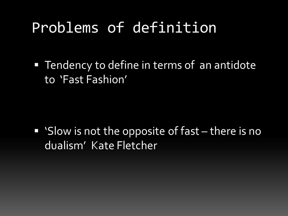 Problems of definition