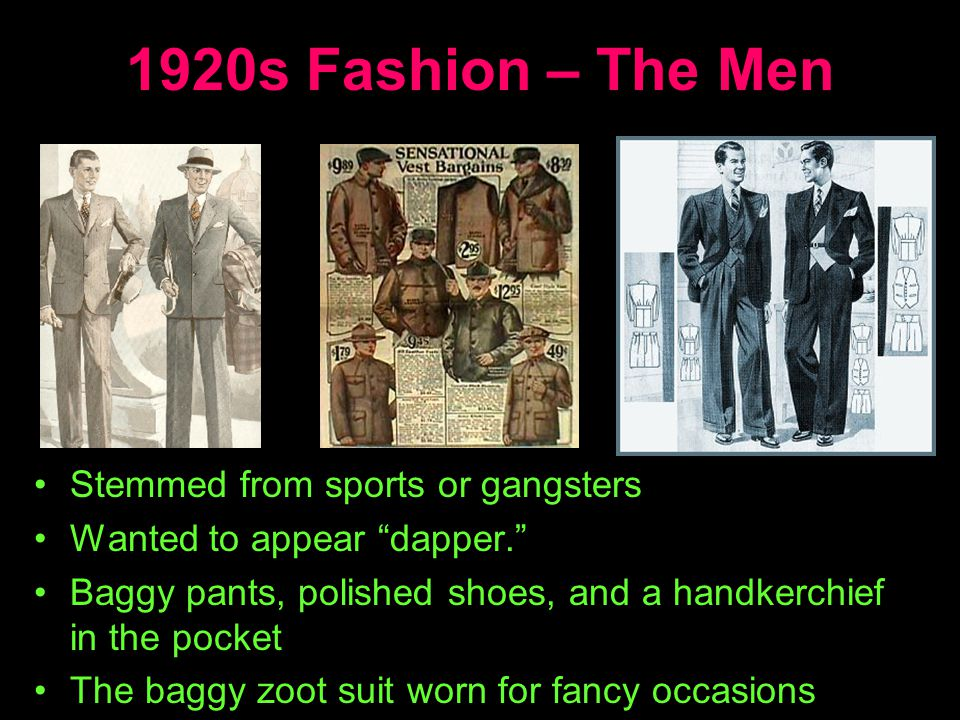 1920s Fashion – The Men Stemmed from sports or gangsters