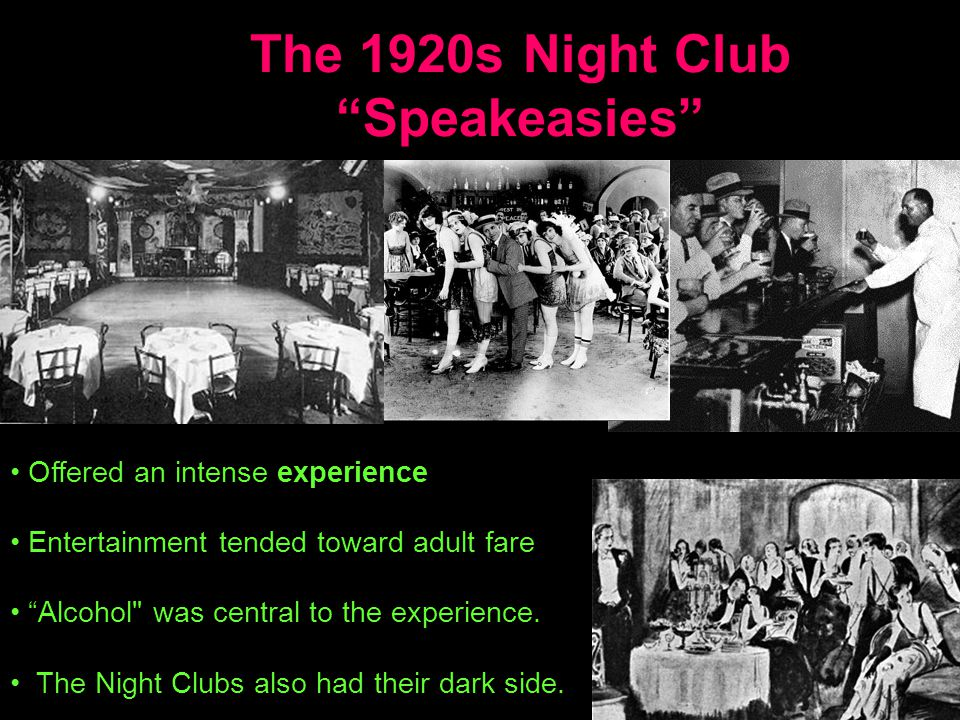 The 1920s Night Club Speakeasies