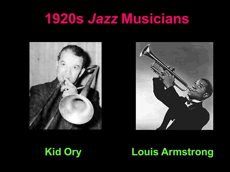 1920s Jazz Musicians Kid Ory Louis Armstrong