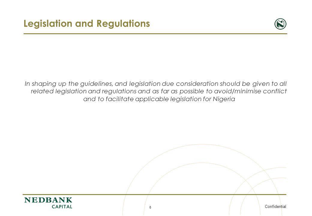 Legislation and Regulations