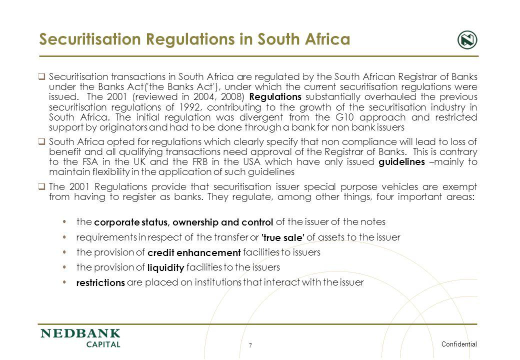 Securitisation Regulations in South Africa