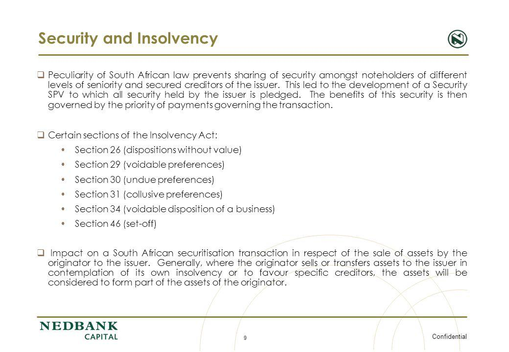 Security and Insolvency