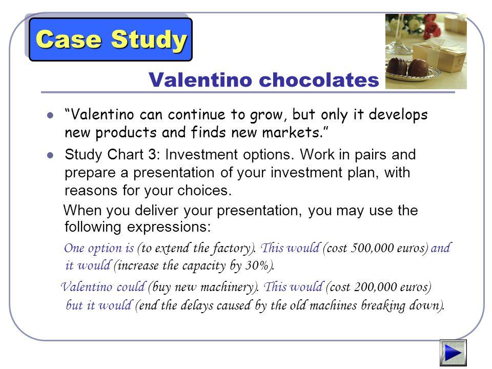 Case Study Valentino chocolates