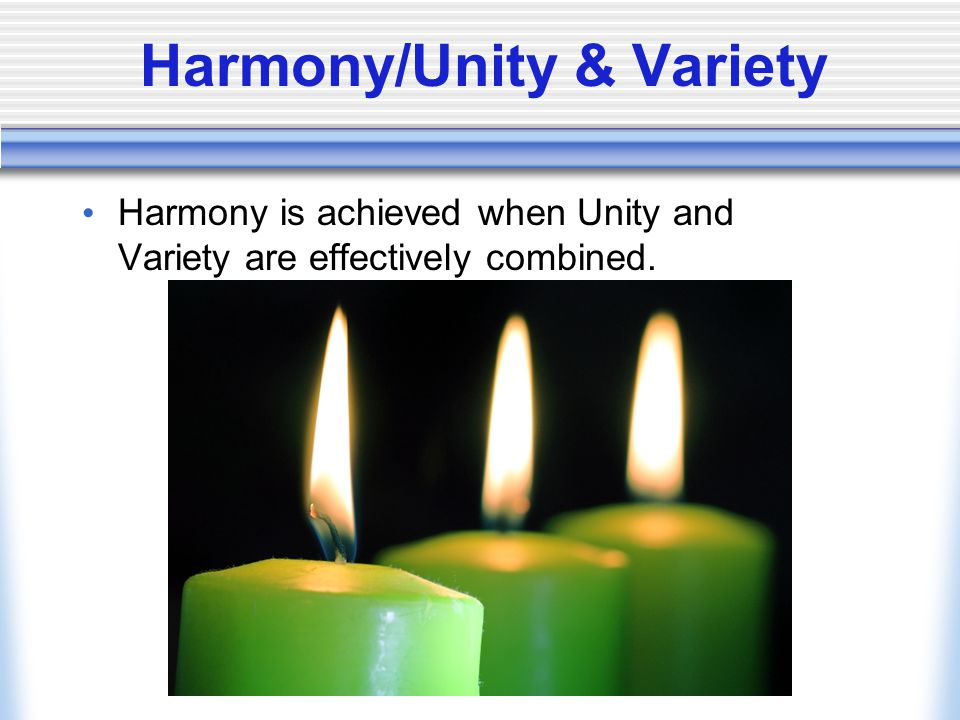 Harmony/Unity & Variety