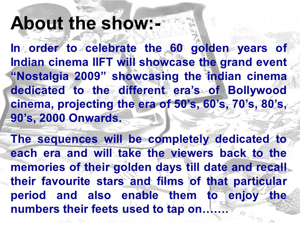 About the show:-