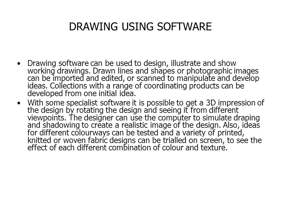 DRAWING USING SOFTWARE