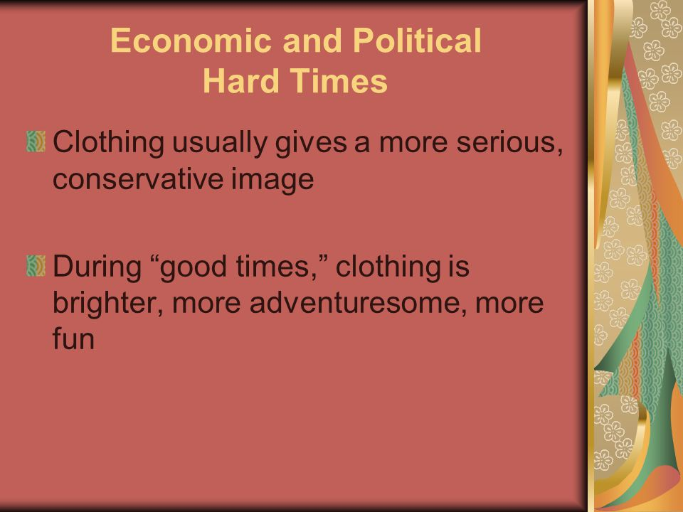 Economic and Political Hard Times