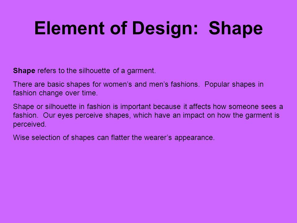 Element of Design: Shape