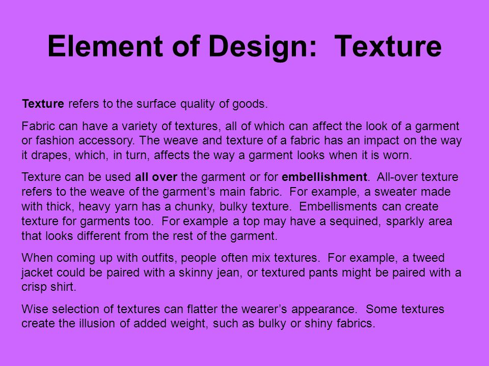 Element of Design: Texture