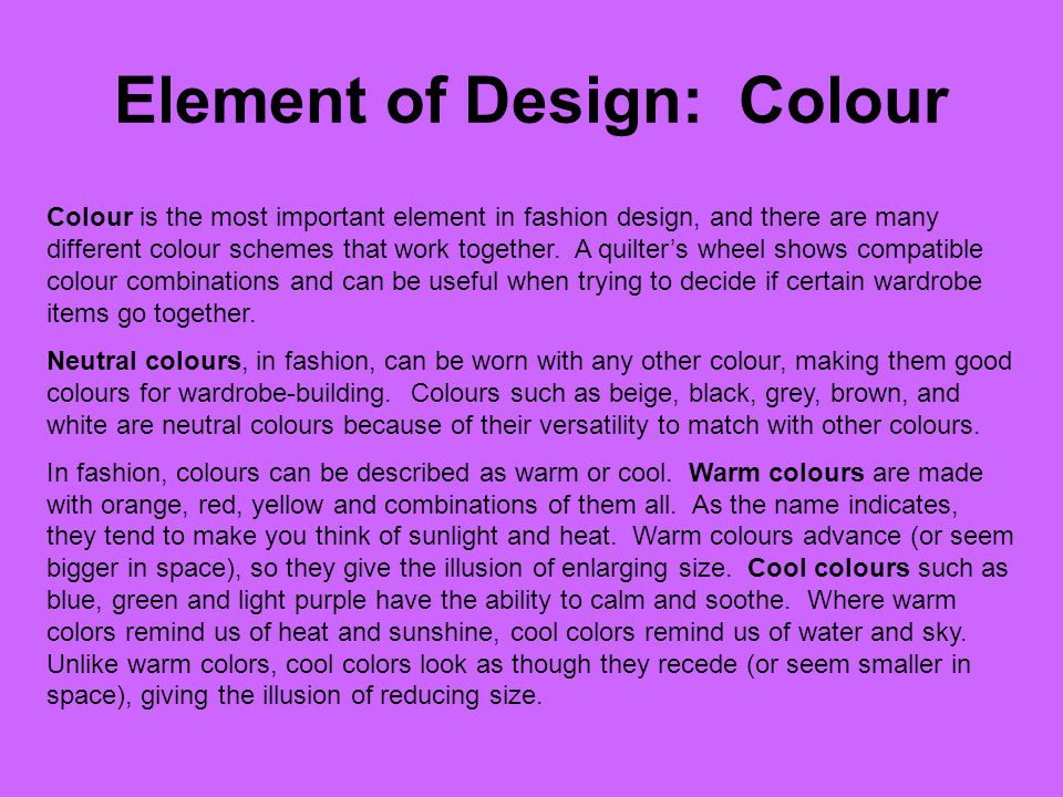 Element of Design: Colour