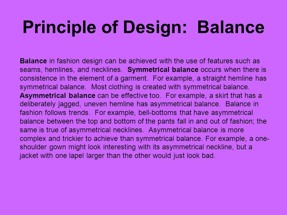 Principle of Design: Balance
