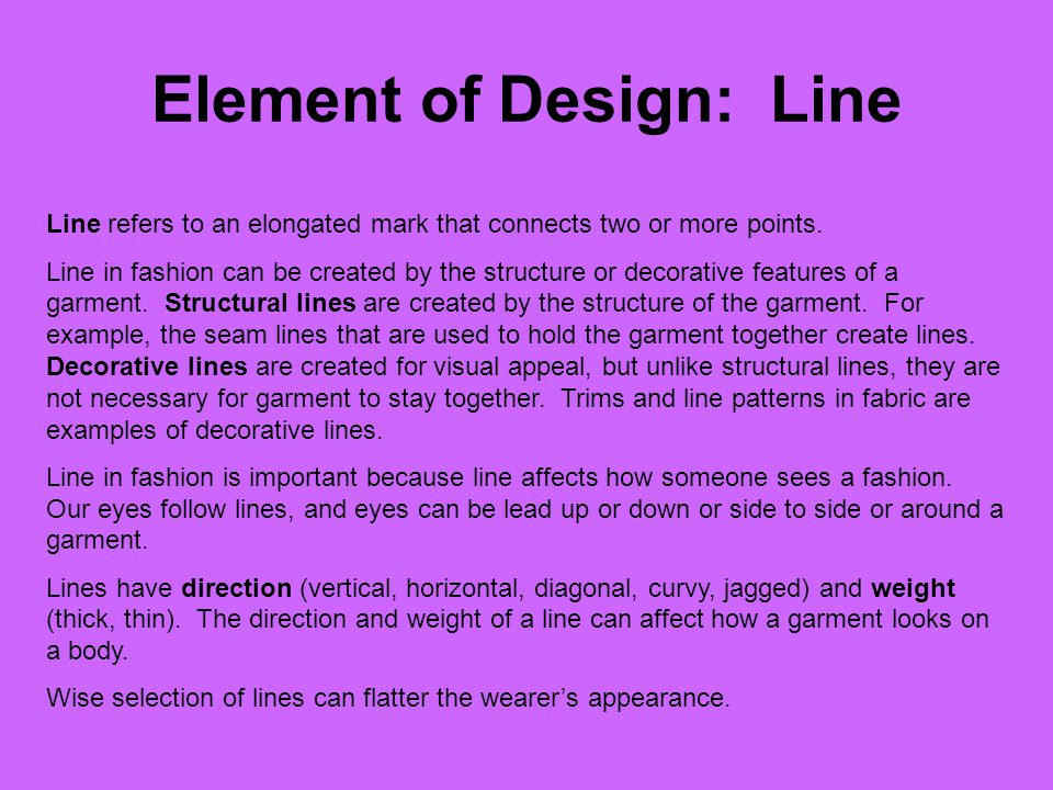 Element of Design: Line