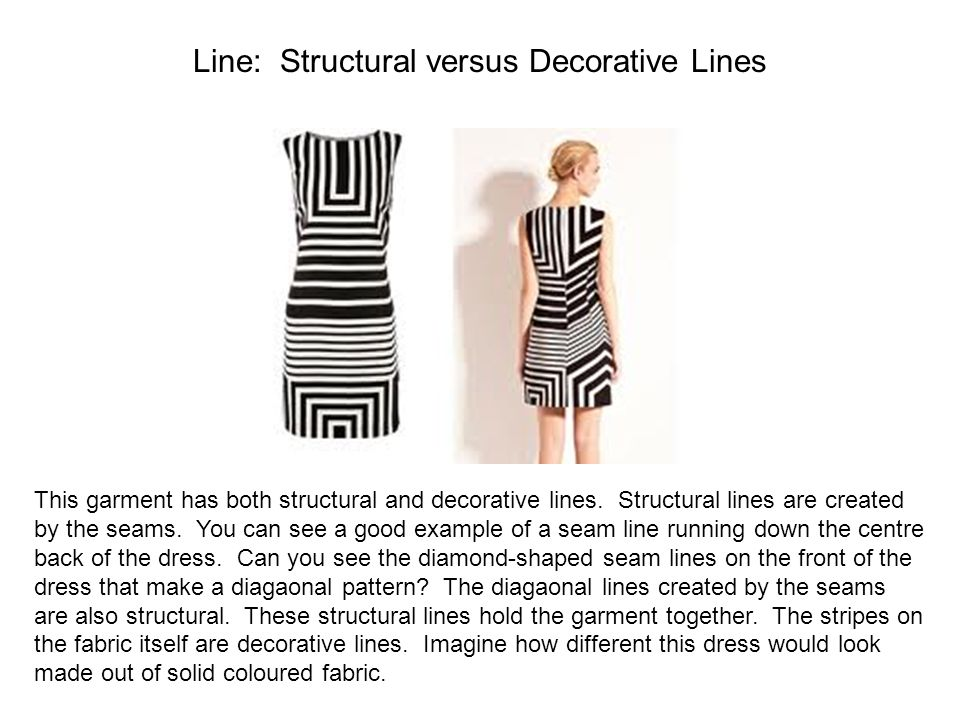 Line: Structural versus Decorative Lines