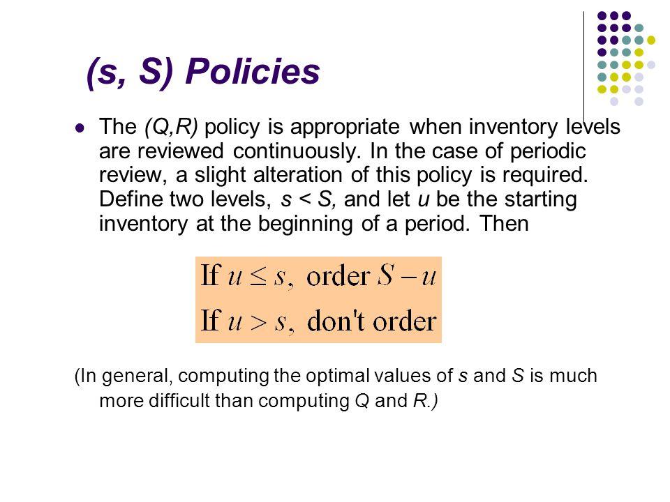 (s, S) Policies