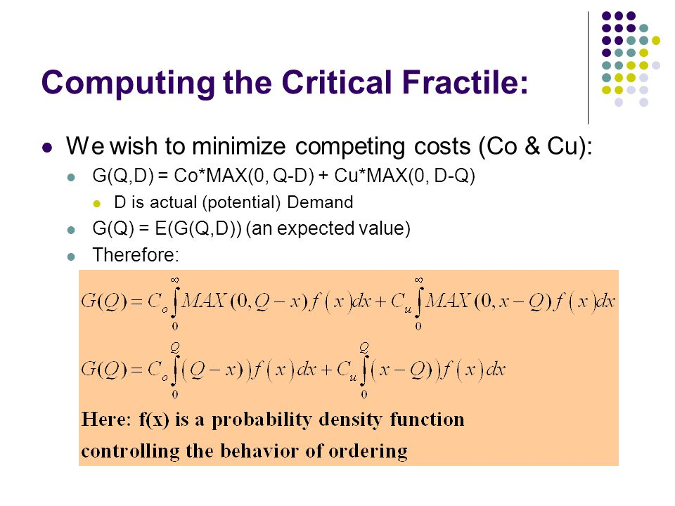 Computing the Critical Fractile: