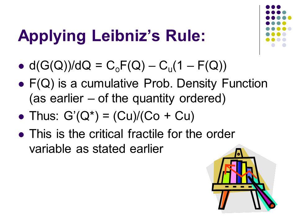 Applying Leibniz's Rule: