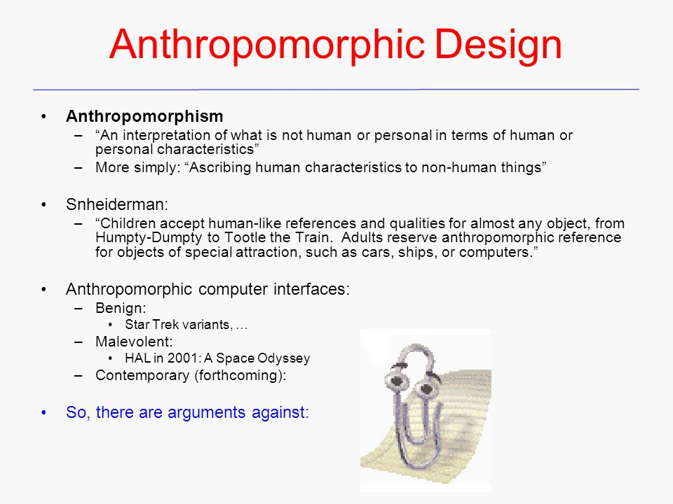 Anthropomorphic Design