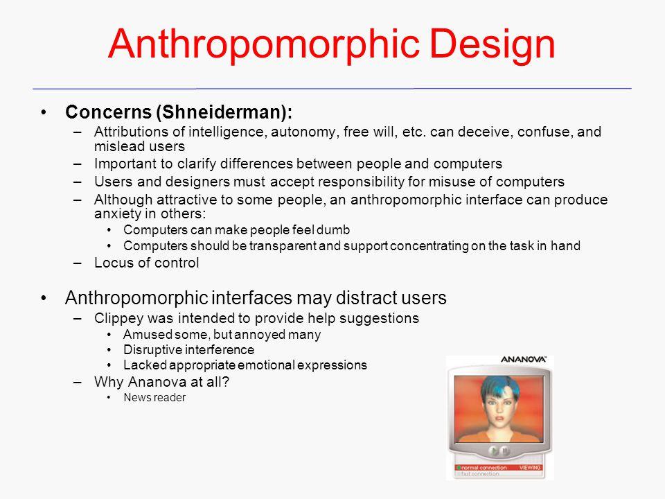 Anthropomorphic Design