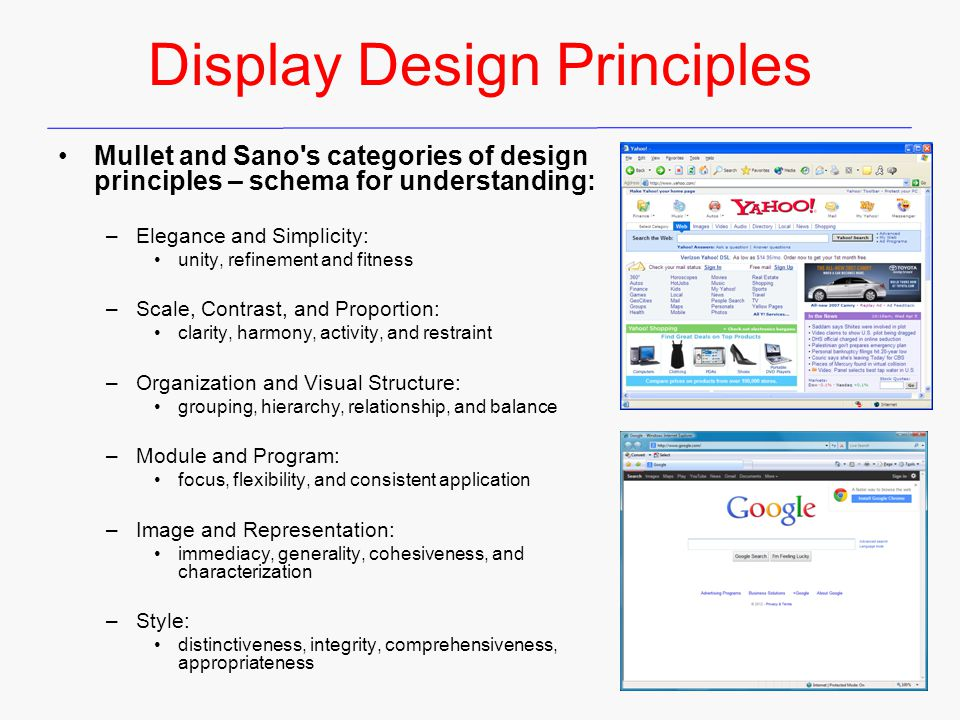 Display Design Principles