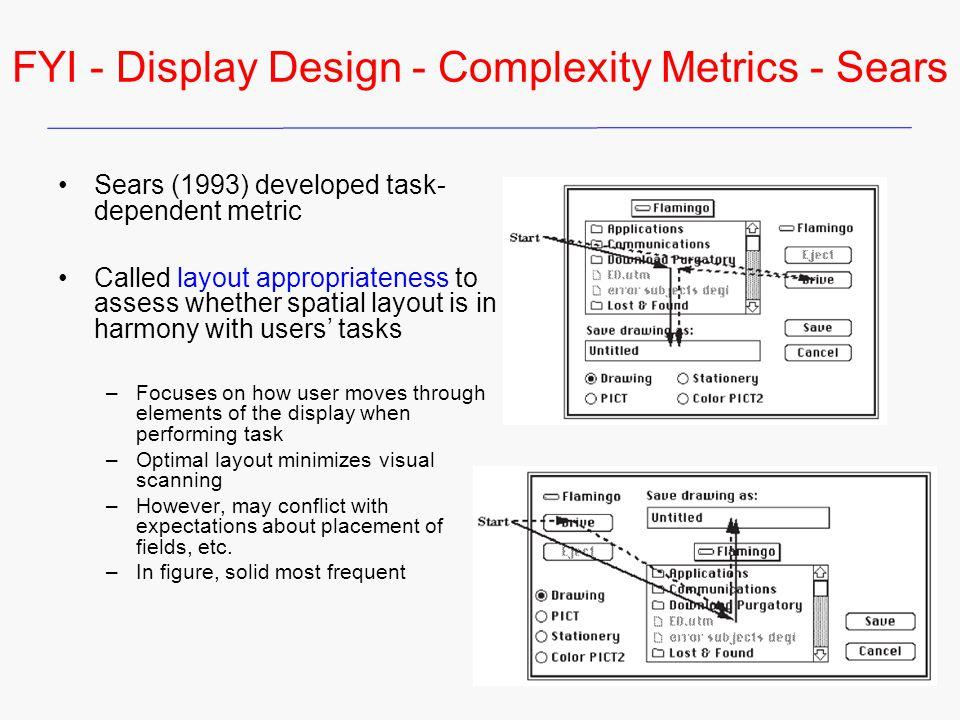 FYI - Display Design - Complexity Metrics - Sears