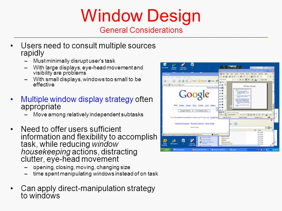 Window Design General Considerations
