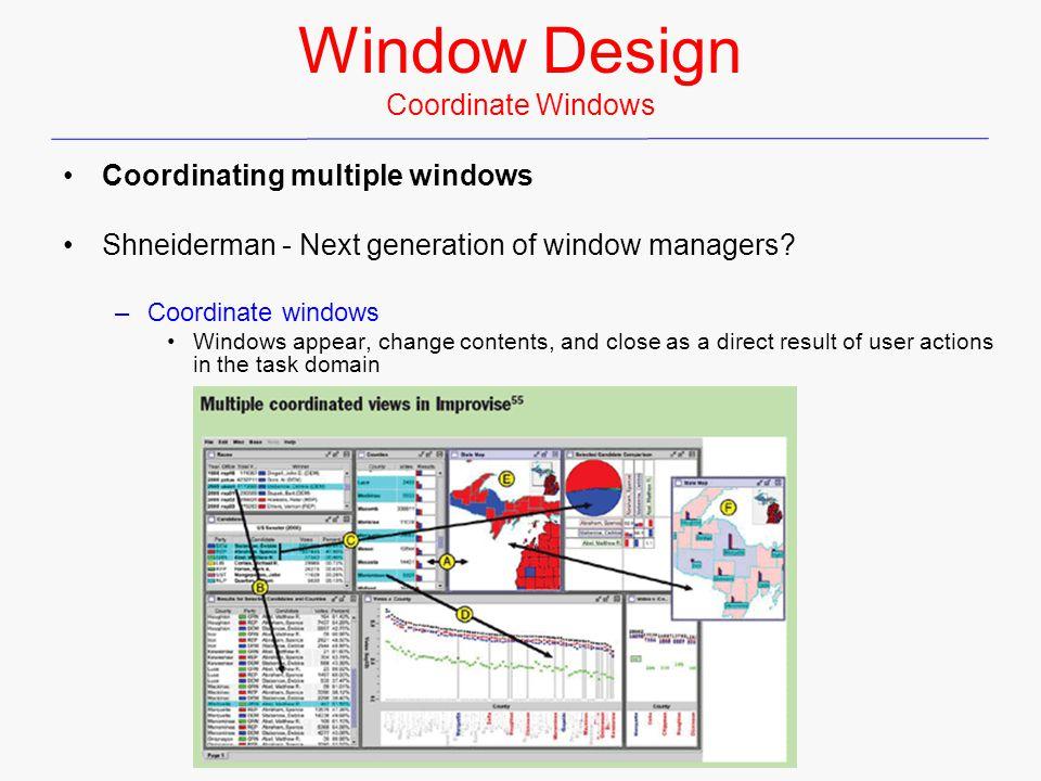 Window Design Coordinate Windows