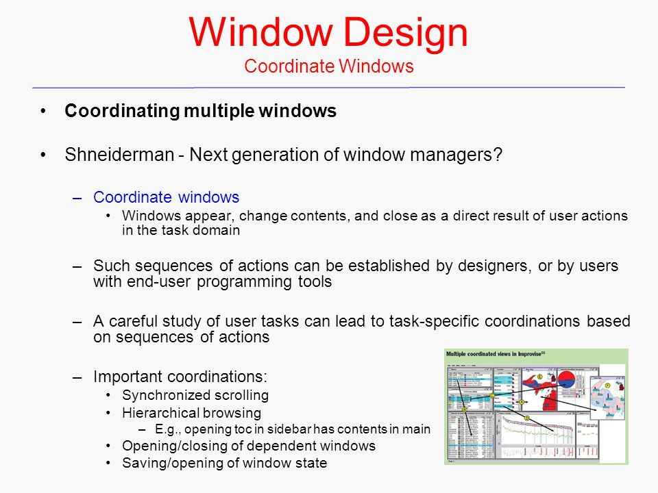 Window Design Coordinate Windows