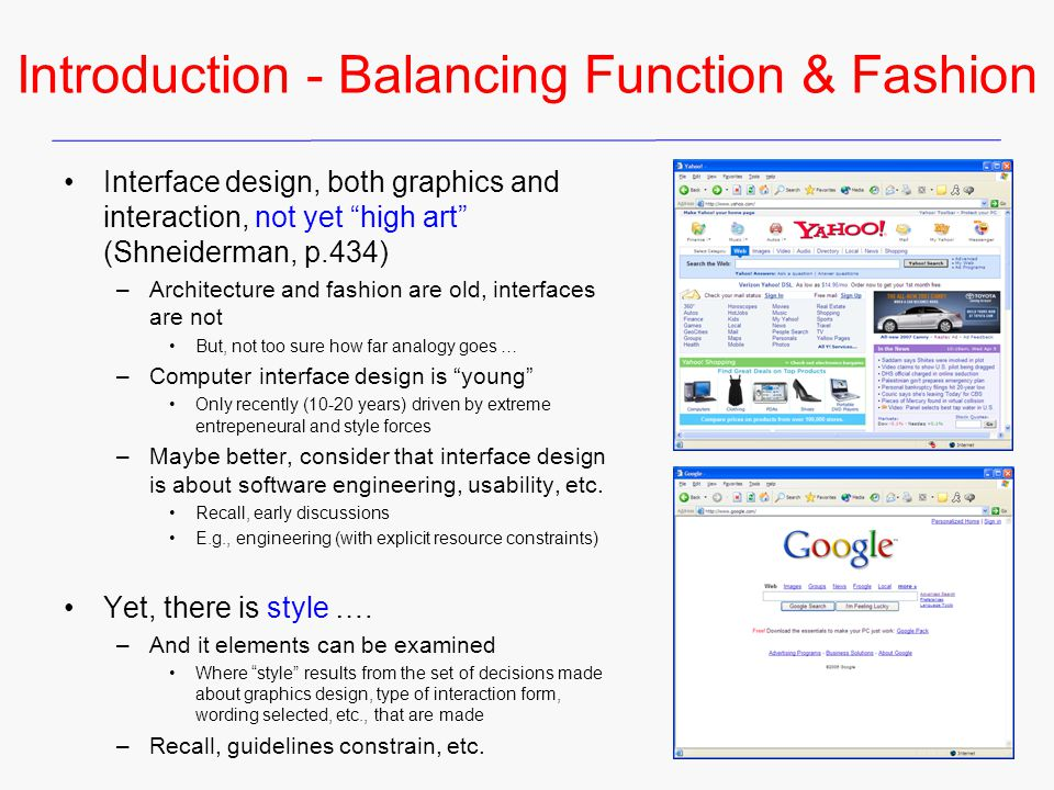 Introduction - Balancing Function & Fashion