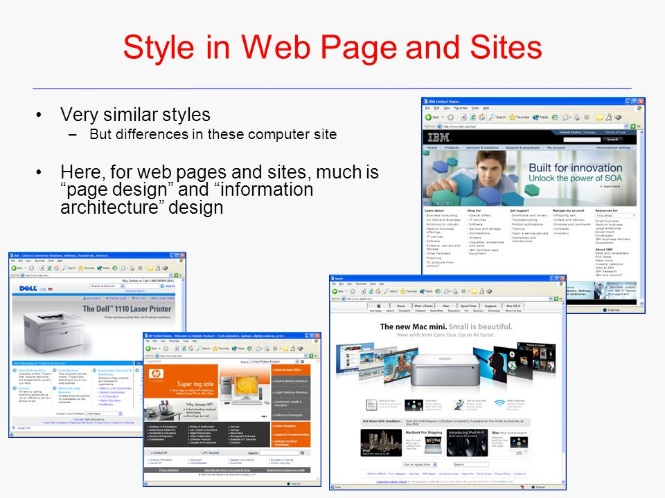 Style in Web Page and Sites