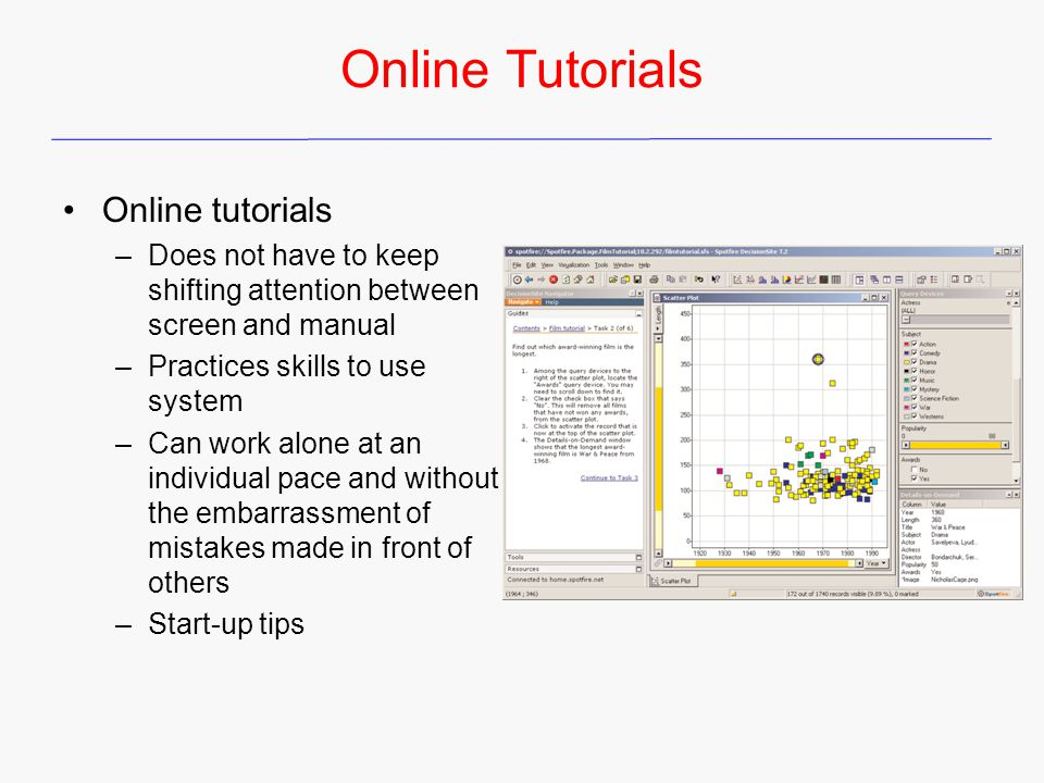 Online Tutorials Online tutorials