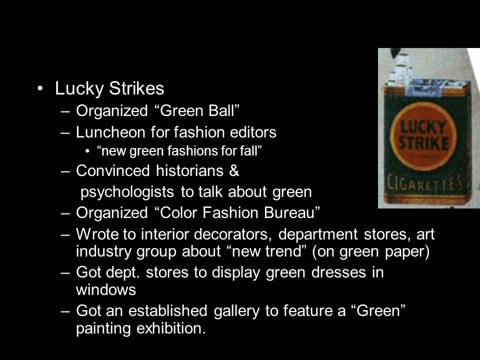 Lucky Strikes Organized Green Ball Luncheon for fashion editors