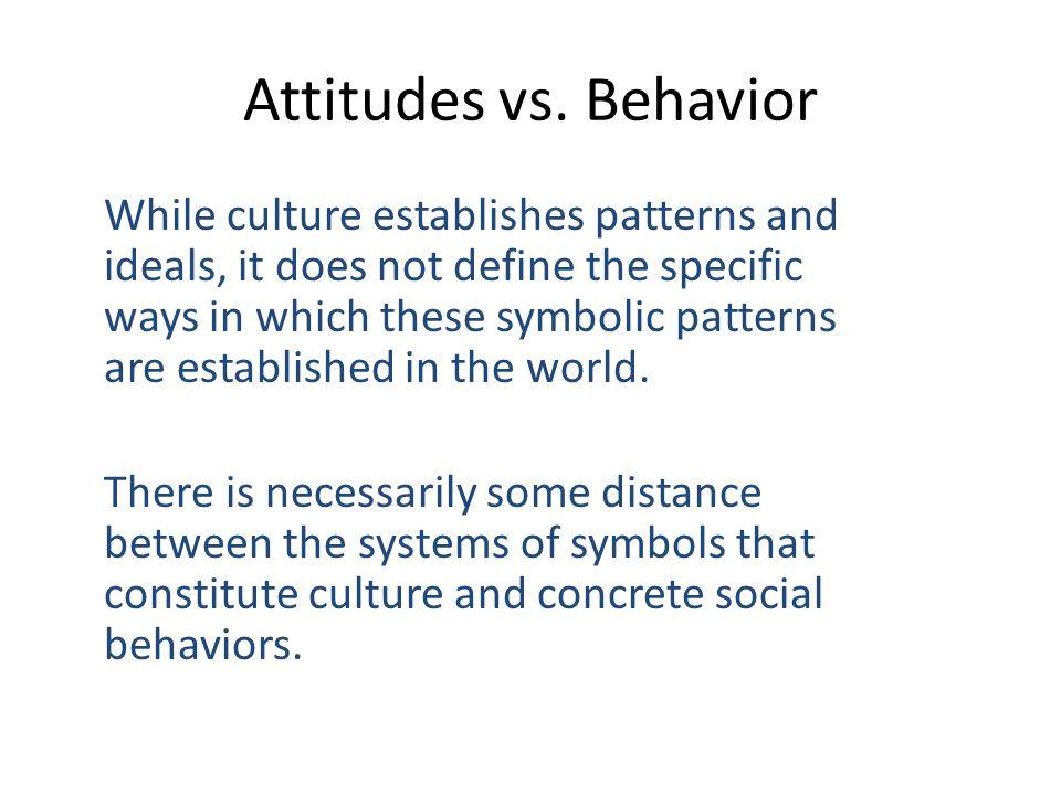Attitudes vs. Behavior