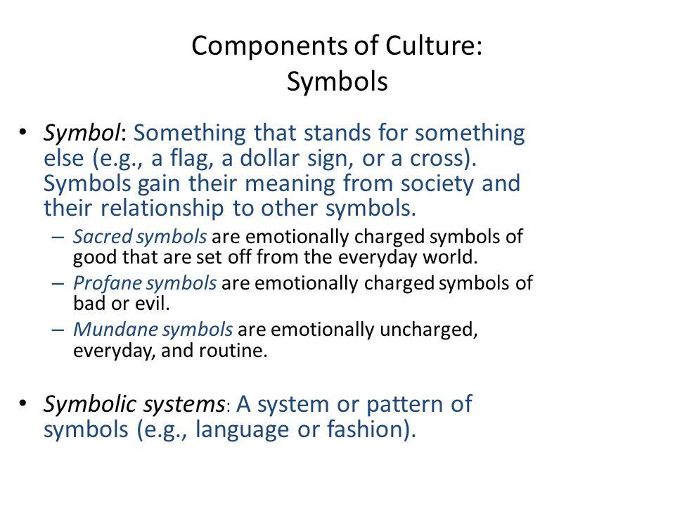 Components of Culture: Symbols
