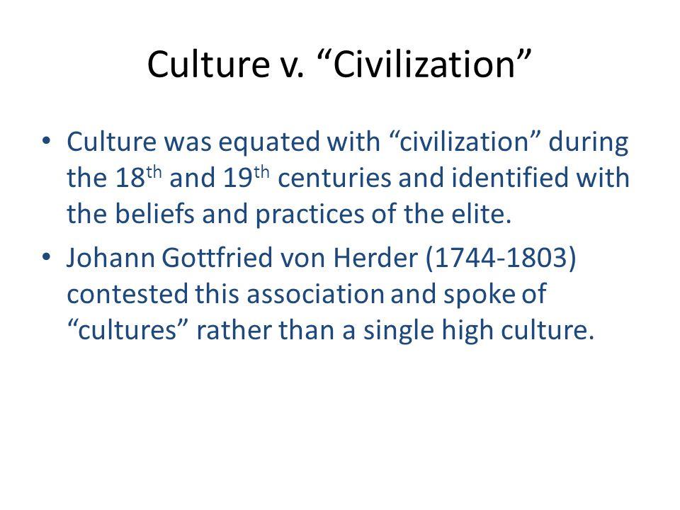 Culture v. Civilization