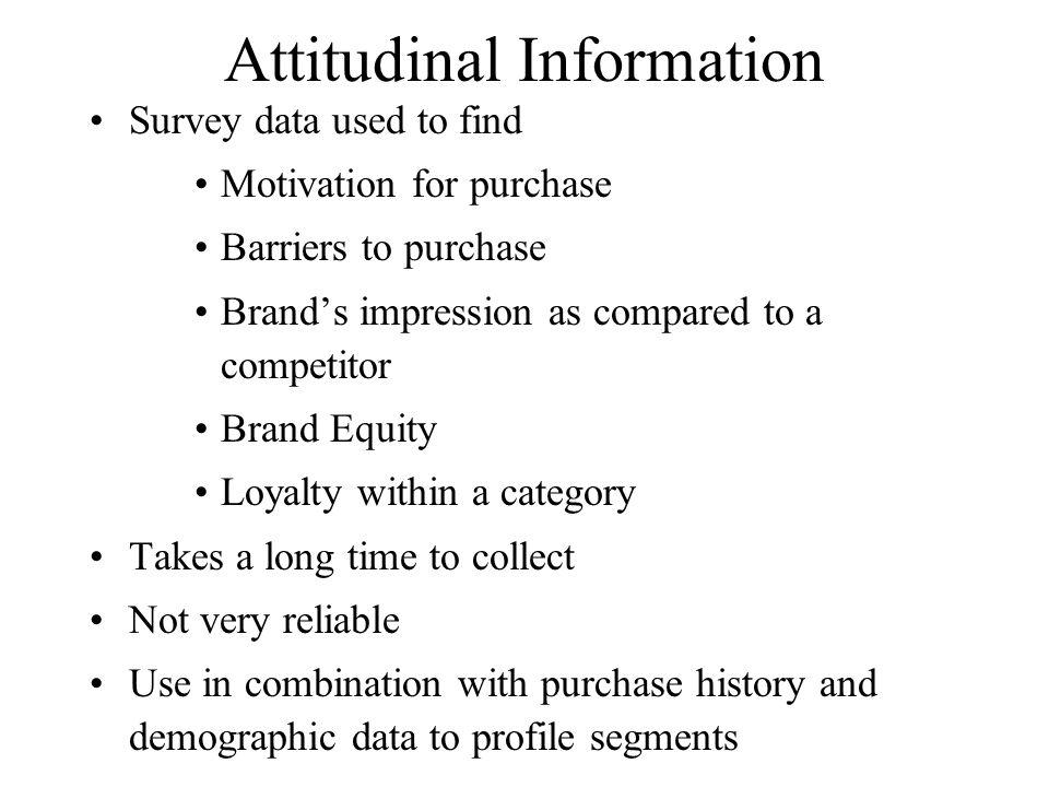 Attitudinal Information