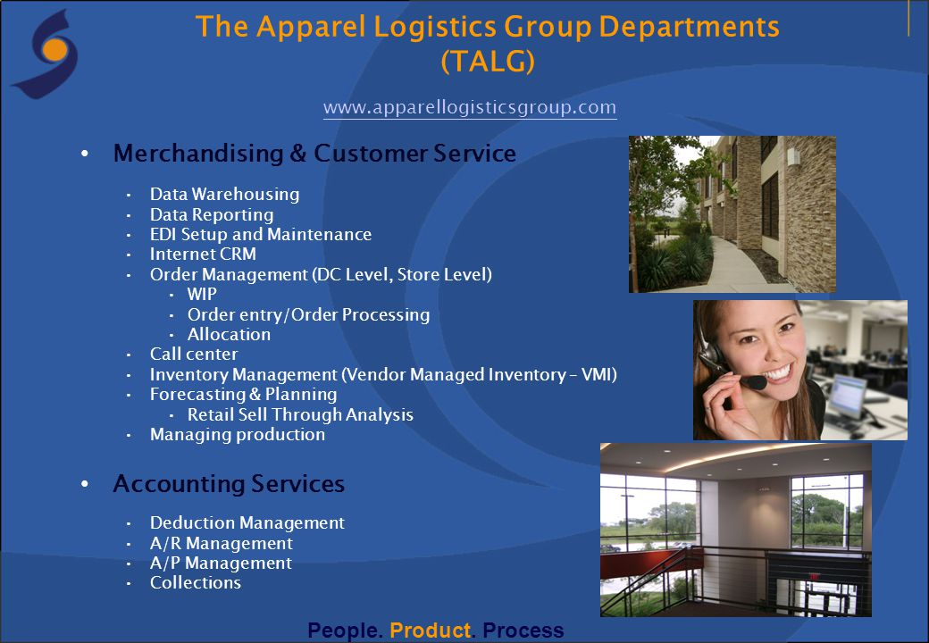 The Apparel Logistics Group Departments (TALG)