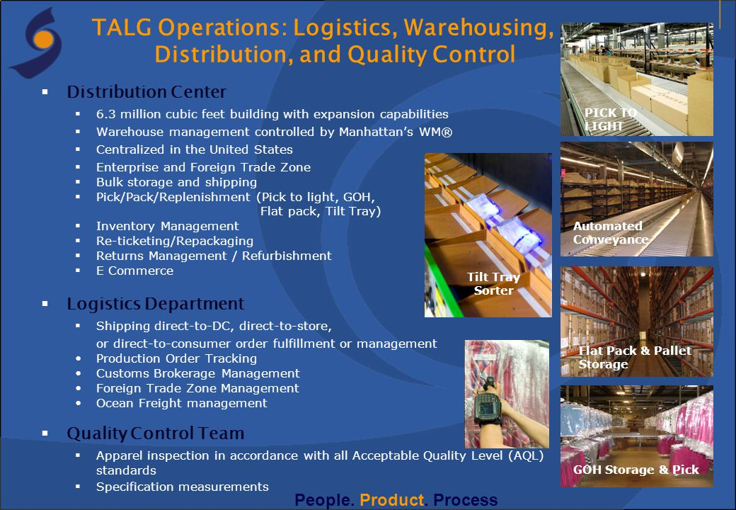 TALG Operations: Logistics, Warehousing,