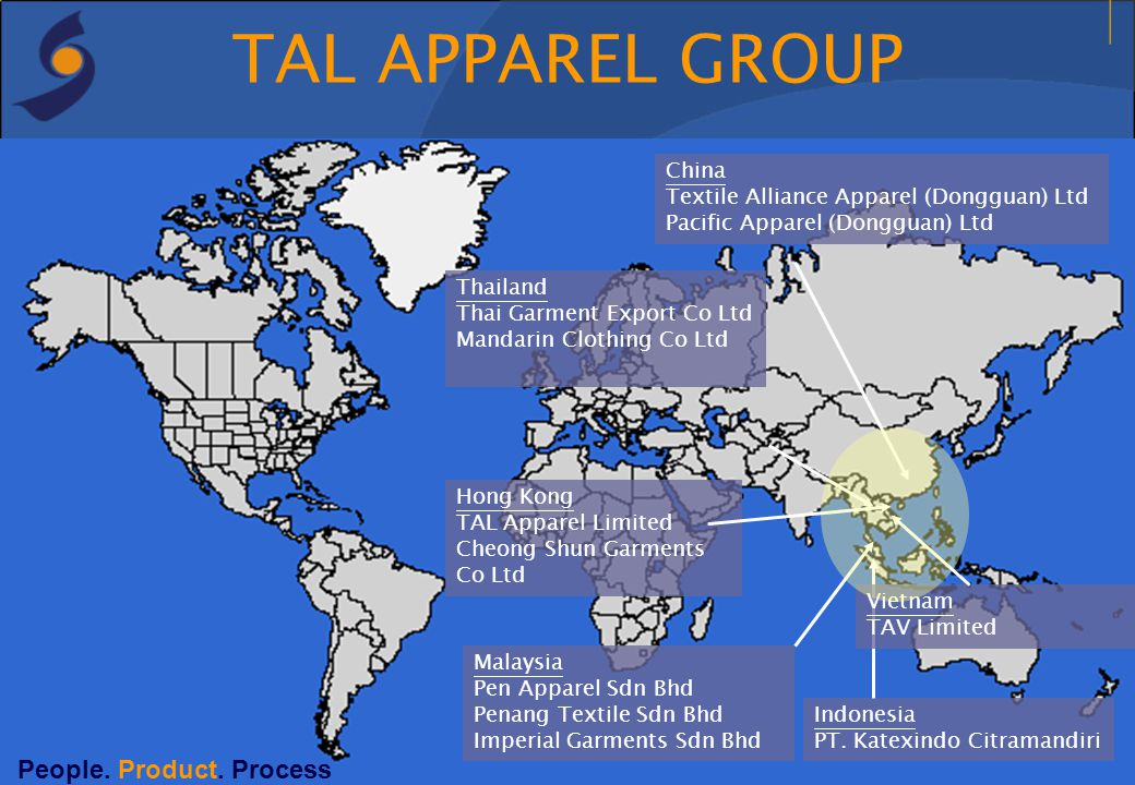 TAL APPAREL GROUP People. Product. Process China
