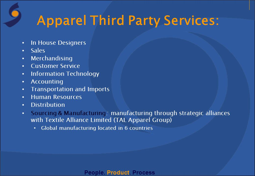 Apparel Third Party Services: