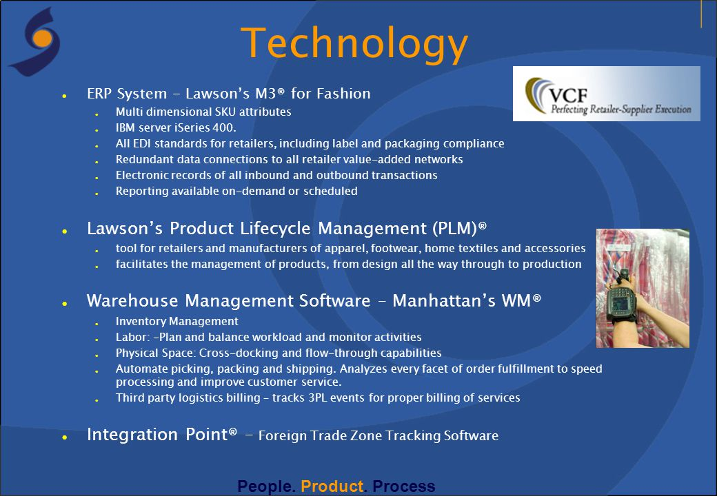 Technology Lawson's Product Lifecycle Management (PLM)®