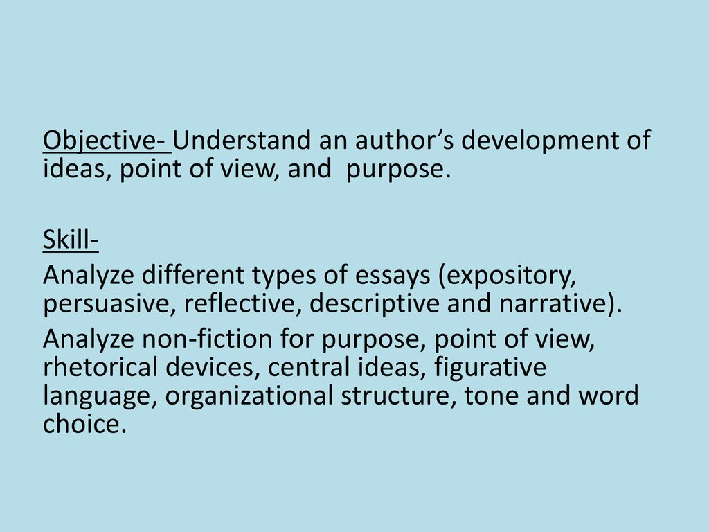 Objective words to describe tone of an essay